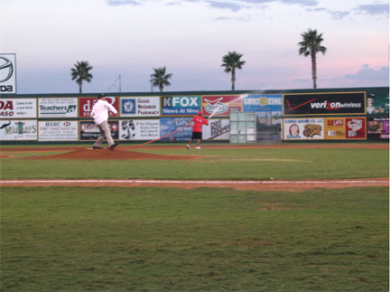 Ross Anderson First Pitch El Paso Diablos Baseball Field