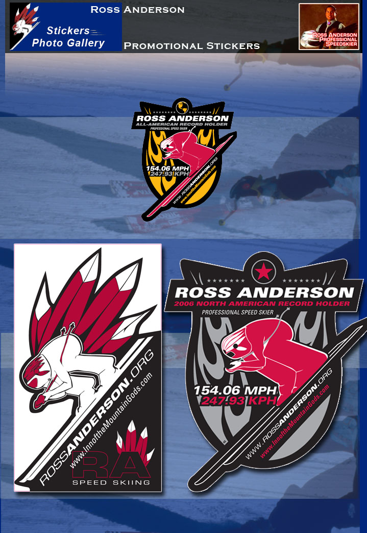 Ross Anderson Promotional Stickers