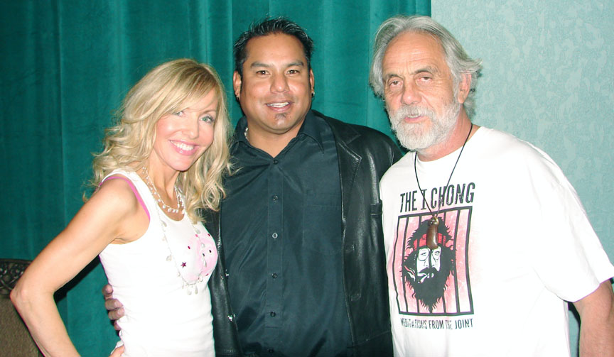 Ross Anderson with Tommy Chong and his wife.