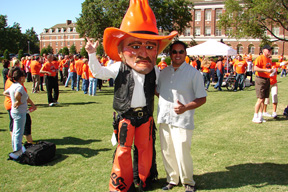 OSU Pistol Pete with Ross Anderson